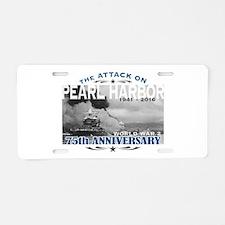 Pearl Harbor Attack Aluminum License Plate