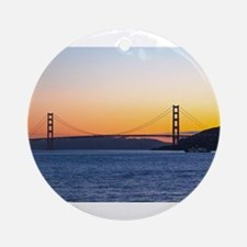 Golden Gate Sunset Round Ornament