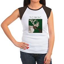 Women's Cap Sleeve T-Shirt - IWS & Reindeer
