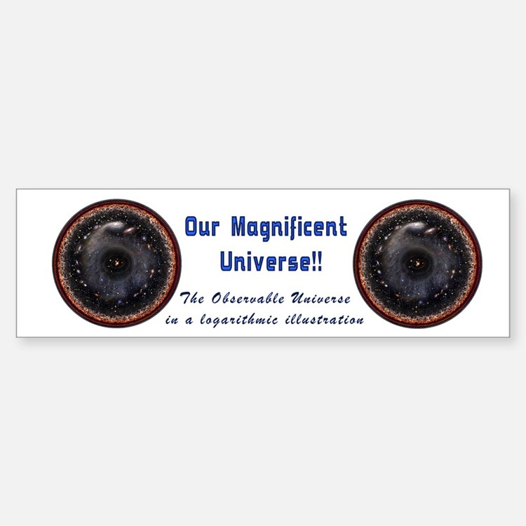 The Observable Universe Sticker (Bumper)
