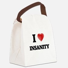 I Love Insanity Canvas Lunch Bag