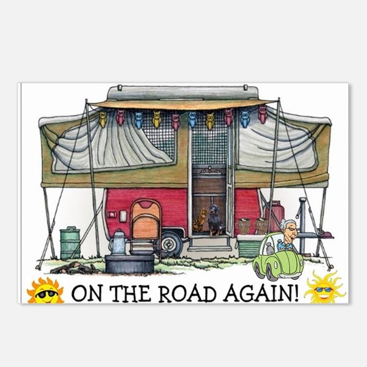 On The Road Again Postcards (Package of 8)