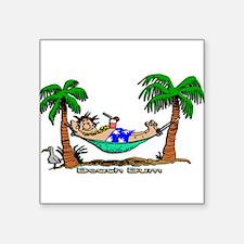 Beach Bum Rectangle Sticker