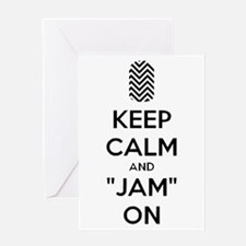 Keep Calm and Jam On Greeting Cards