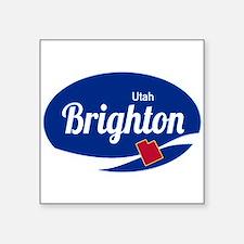 Brighton Ski Resort Utah oval Sticker