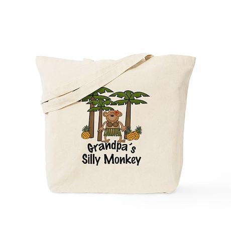 Grandpa's Silly Monkey Girl Tote Bag