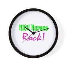 NICU Nurses Rock! Wall Clock