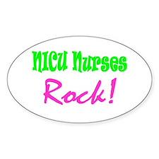 NICU Nurses Rock! Oval Decal