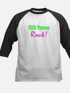 NICU Nurses Rock! Kids Baseball Jersey