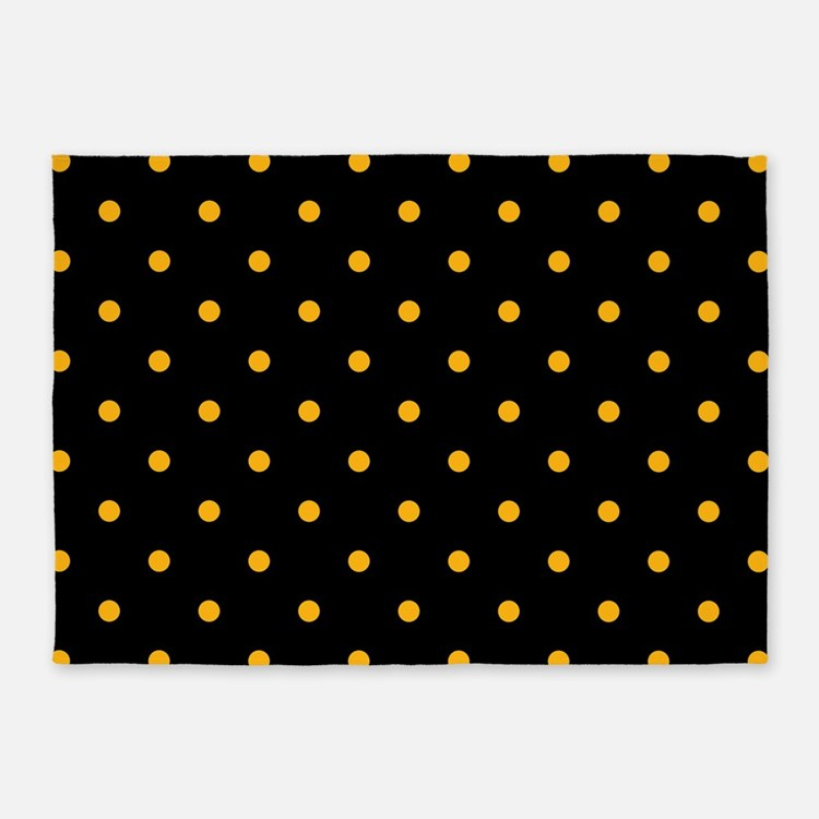 Gold Polka Dot Rugs, Gold Polka Dot Area Rugs