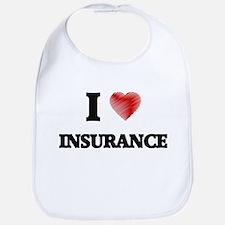 I Love Insurance Bib