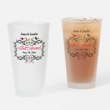 Just Married Custom Drinking Glass