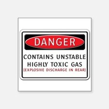Danger: Contains Unstable Hig Rectangle Sticker