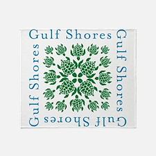 Gulf Shores turtle kaleidoscope- Throw Blanket