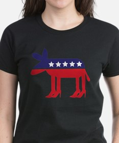 Democratic Donkey on Heels T-Shirt