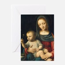 The Madonna of the Carnation, Luini Greeting Card