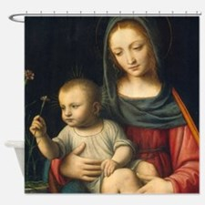 The Madonna of the Carnation, Luini Shower Curtain