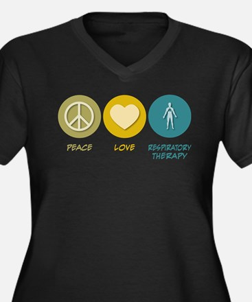 Peace Love Respiratory Therapy Plus Size T-Shirt