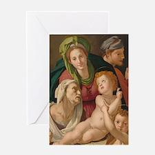 The Holy Family, Bronzino Greeting Card