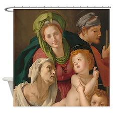 The Holy Family, Bronzino Shower Curtain