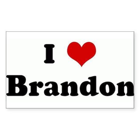 I Love Brandon Rectangle Sticker