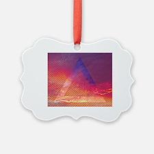 Unique Pink triangle Ornament