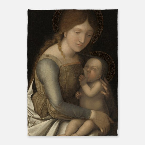 Madonna and Child 5'x7'Area Rug