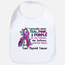 For Fighters Survivors Taken Thyroid Cancer Bib