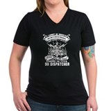 911 dispatcher Womens V-Neck T-shirts (Dark)