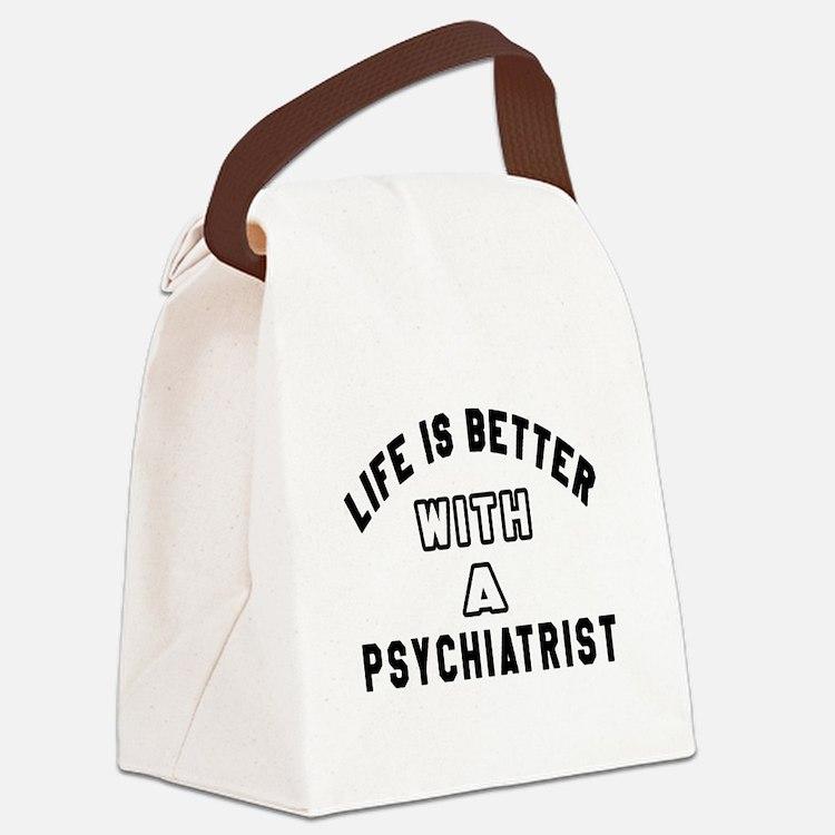 Psychiatrist Designs Canvas Lunch Bag