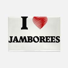 I Love Jamborees Magnets