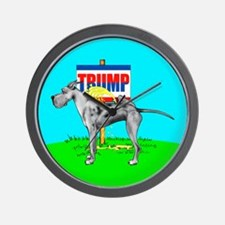 Piss on Trump Merle Dane Wall Clock