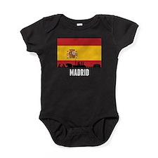 Madrid Spanish Flag Baby Bodysuit