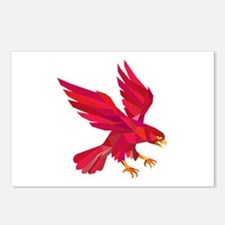 Peregrine Falcon Swooping Low Polygon Postcards (P
