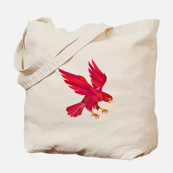 Peregrine Falcon Swooping Low Polygon Tote Bag