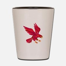 Peregrine Falcon Swooping Low Polygon Shot Glass