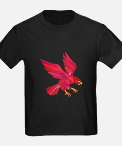 Peregrine Falcon Swooping Low Polygon T-Shirt