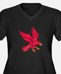 Peregrine Falcon Swooping Low Polygon Plus Size T-