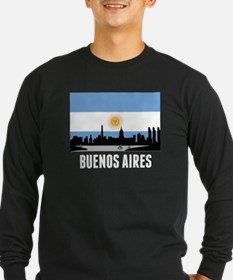 Buenos Aires Argentinian Flag Long Sleeve T-Shirt