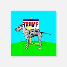 "Piss on Trump Merle Dane Square Sticker 3"" x 3"""