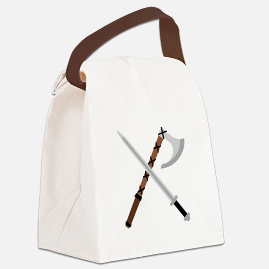 Sword & Axe Canvas Lunch Bag