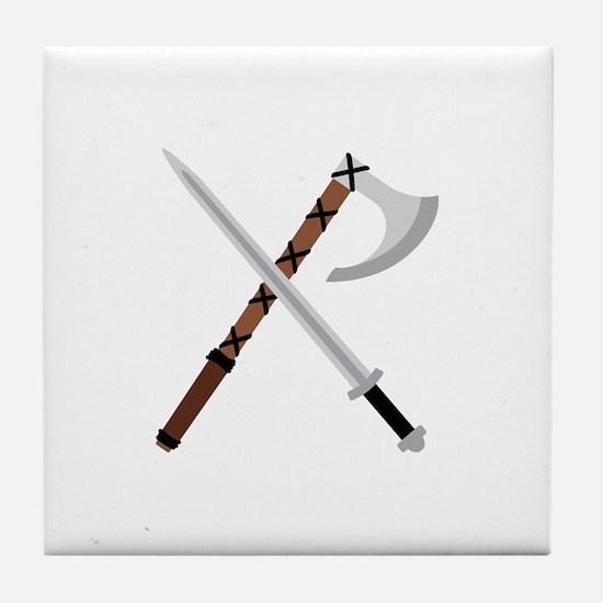 Sword & Axe Tile Coaster