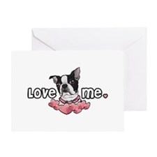 Love Me Boston Terrier Greeting Card
