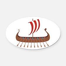 Viking Boat Oval Car Magnet