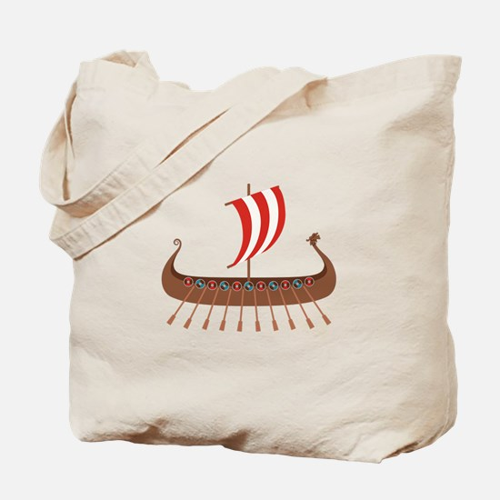 Viking Boat Tote Bag