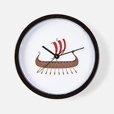 Viking Boat Wall Clock