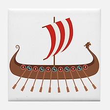 Viking Boat Tile Coaster