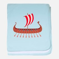 Viking Boat baby blanket