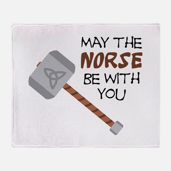 Norse Be With You Throw Blanket