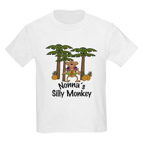 Nonna's Silly Monkey Boy Kids Light T-Shirt